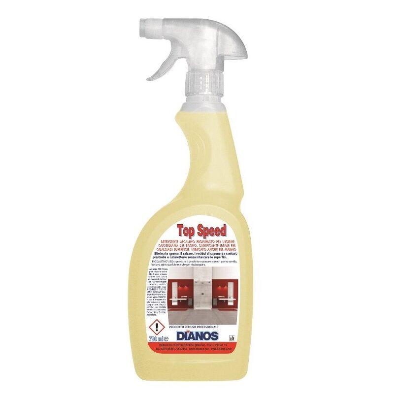 Top Speed - Detergente alcalino gradevolmente profumato per sanitari, pareti piastrellate, rubinetterie Image