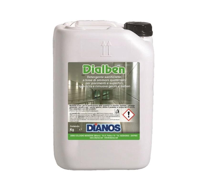 Dialben - Detergente sanificante balsamico a base di ammoni quaternari Image