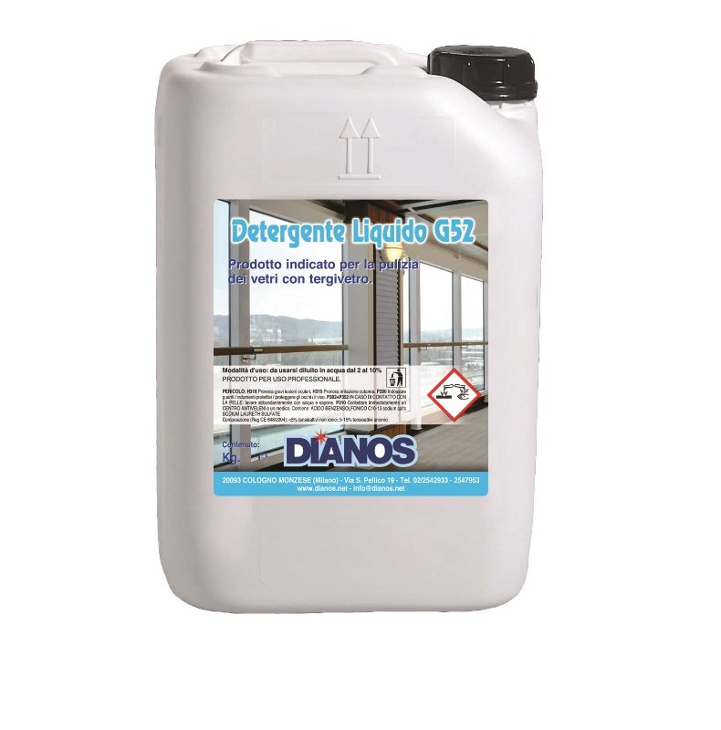 Detergente Liquido G52 - liquido viscoso per la pulizia di superfici in vetro Image
