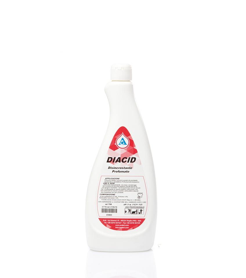 Diacid - Anticalcare a ph acido, delicato sulle rubinetterie Image