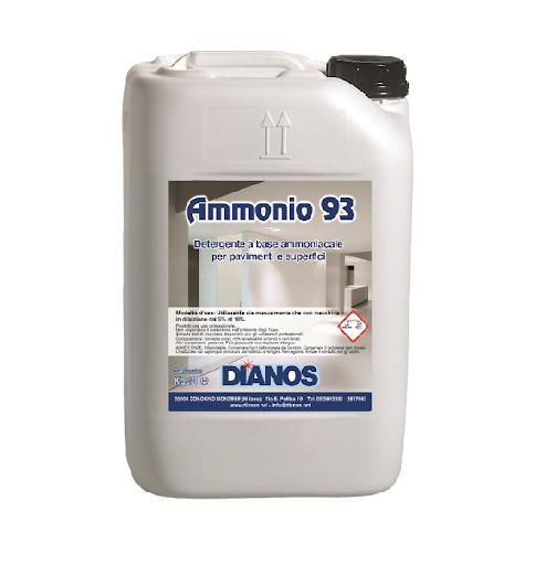 Ammonio 93 - Sgrassante alcalino a base ammoniacale, per pavimenti e superfici lavabili in generale Image