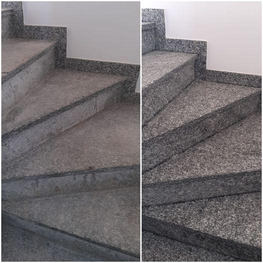 scala di granito spazzolato
